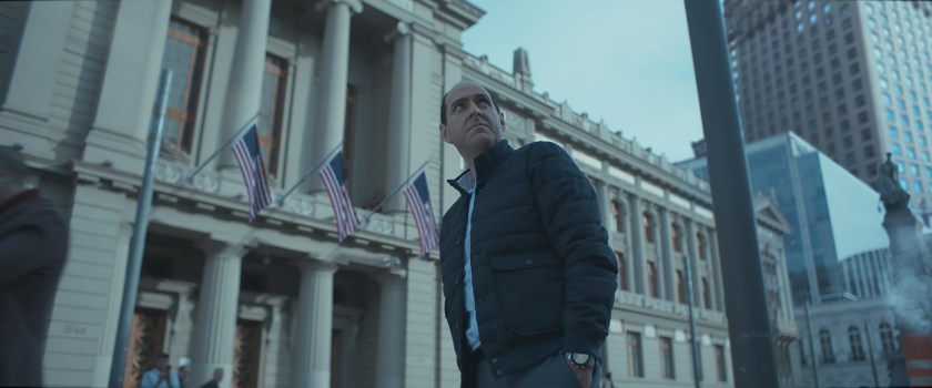 "Andrés Parra as Chilean soccer executive Sergio Jadue in Amazon's ""El Presidente,"" a satire of the 2015 ""FIFA Gate"" scandal."