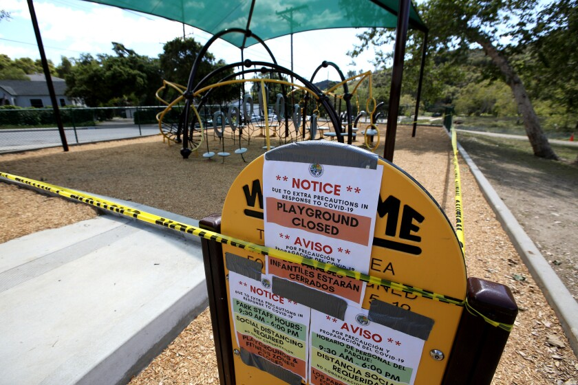 Crescenta Valley Park playground closed