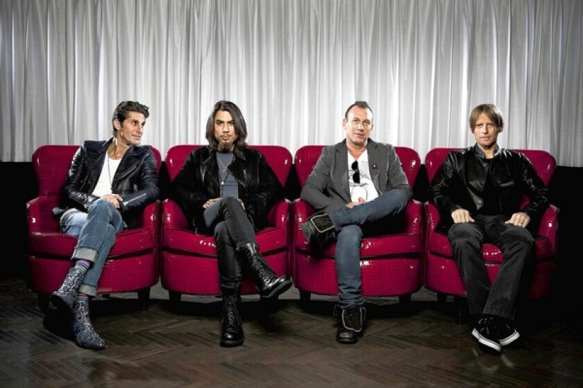 Jane's Addiction, from left, with frontman Perry Farrell, guitarist Dave Navarro, drummer Stephen Perkins and bassist Chris Chaney.