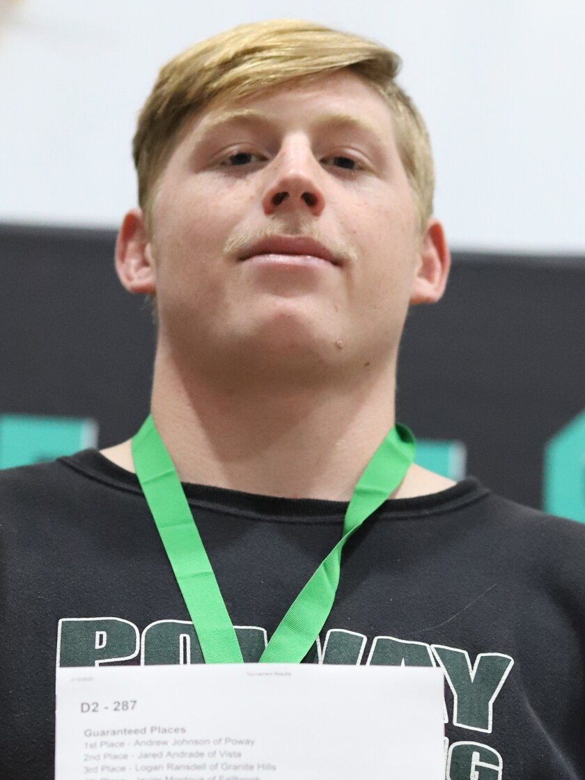Andrew Johnson, Poway high school boys wrestling