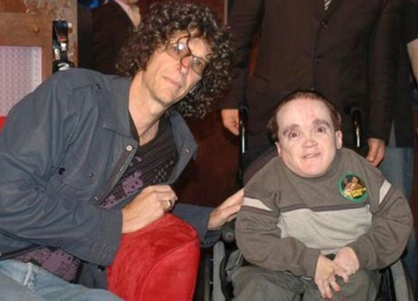 The Howard Stern Show released this picture Monday of the radio show host and Eric the Actor, who died Saturday at age 39.