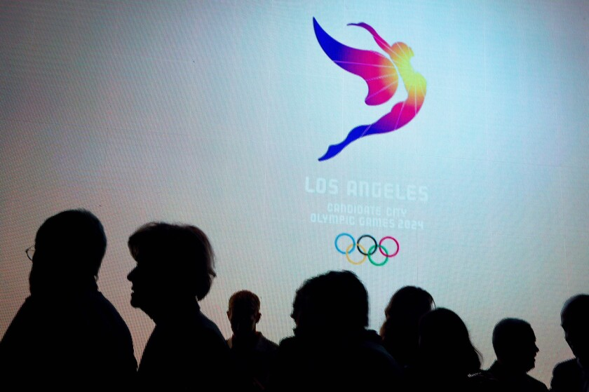 The logo for the Los Angeles 2024 Olympic bid was unveiled on Feb. 16, 2016.