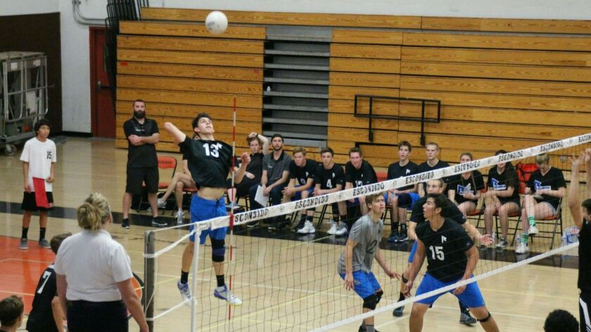 Armando Abarca plays for Ramona High in a game against Escondido.