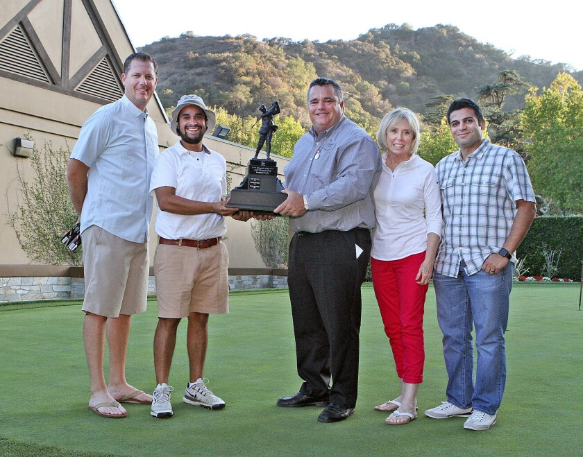 St. Francis alum Ryan Miranda, second from left, won the 2015 Glendale City Golf Championship at Oakmont Country Club.