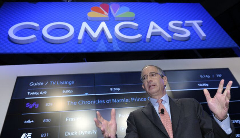 Comcast Corp. CEO Brian Roberts speaks at the Cable Show 2013 convention in Washington, D.C.