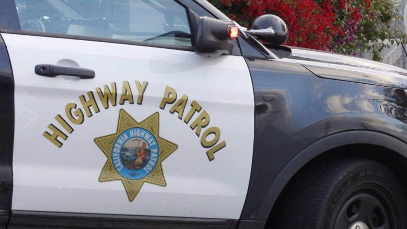 A file photo of a CHP car door.