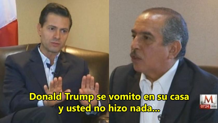 En una entrevista con Milenio TV, el periodista Carlos Marín le expresó lo que los mexicanos dicen en las calles sobre su encuentro con Trump.