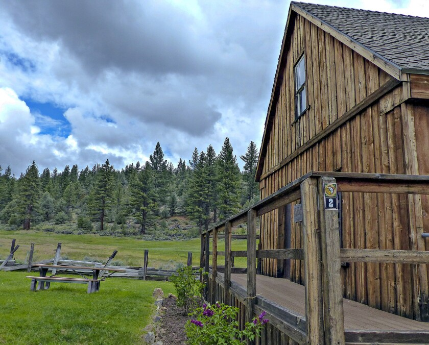 The old log jail in Markleeville, Calif., is part of a self-guided walking/driving tour that can be followed using brochures available at a nearby visitor center.