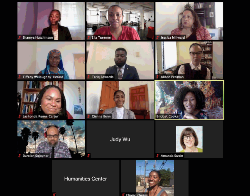 Screenshot of one of UCI-HBCU fellowship's meetings.