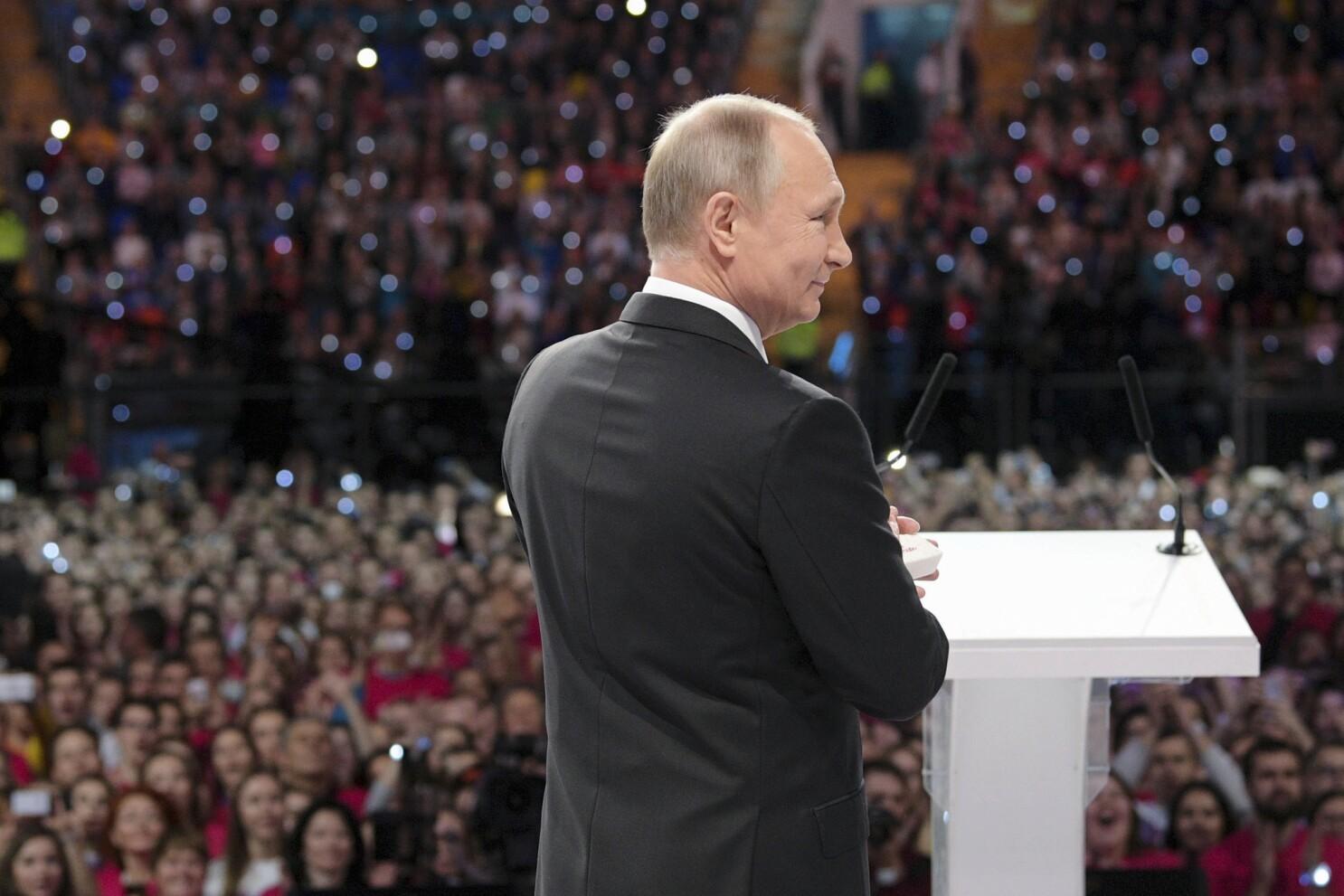 Russian President Vladimir Putin Announces Re Election Bid Los Angeles Times