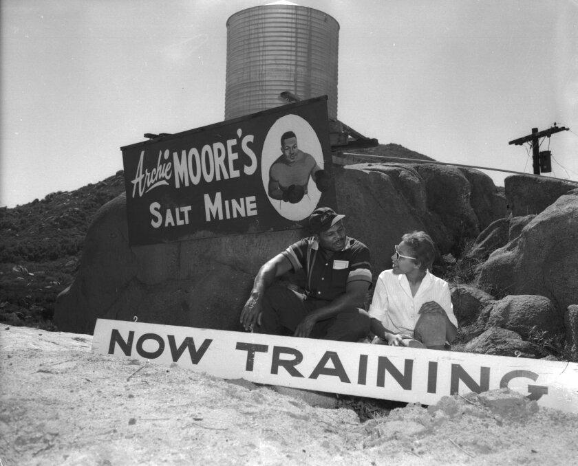Archie Moore at his Salt Mine training camp near Ramona California in 1959.
