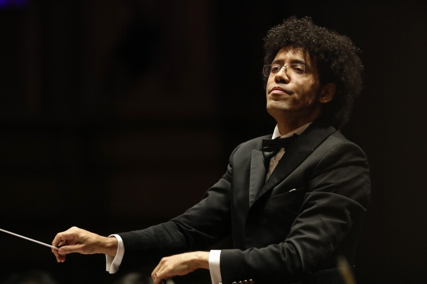 Rafael Payare, the San Diego Symphony's new music director, conducts his opening concert, kicking off the symphony's fall season on Saturday night at Copley Symphony Hall in downtown San Diego.
