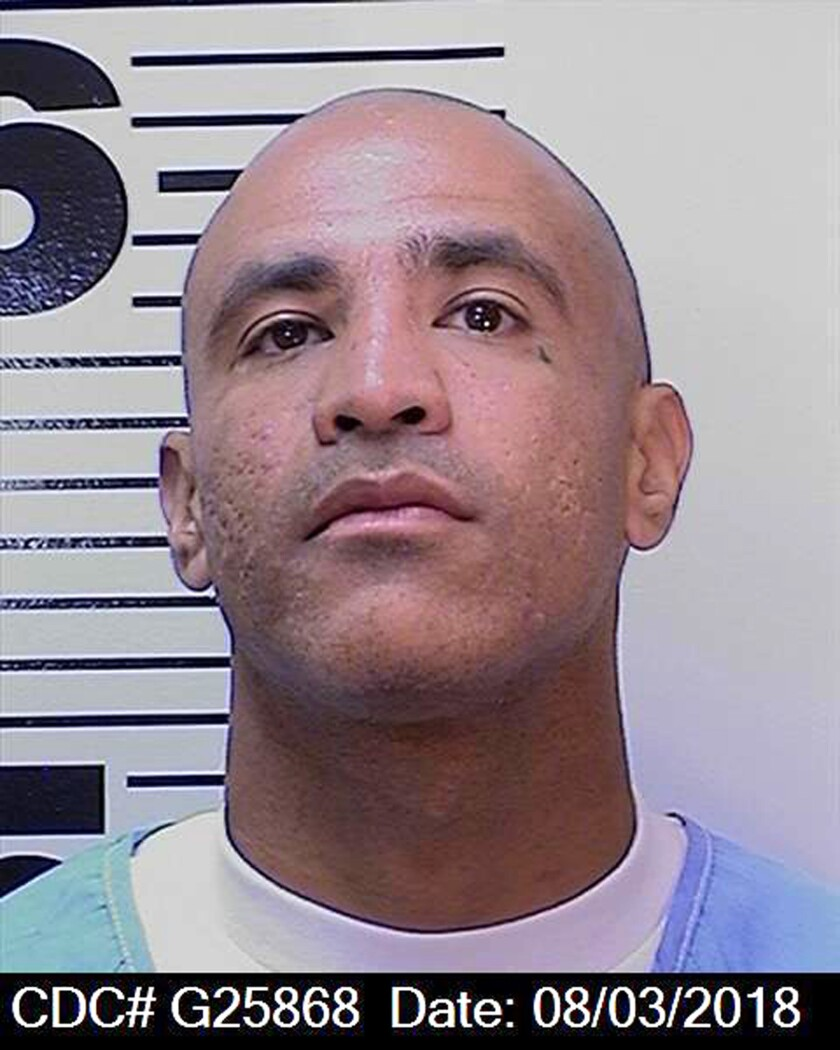 Luis Rodriguez (pictured) is accused of fatally stabbing Jonathan Fajardo, also on death row.