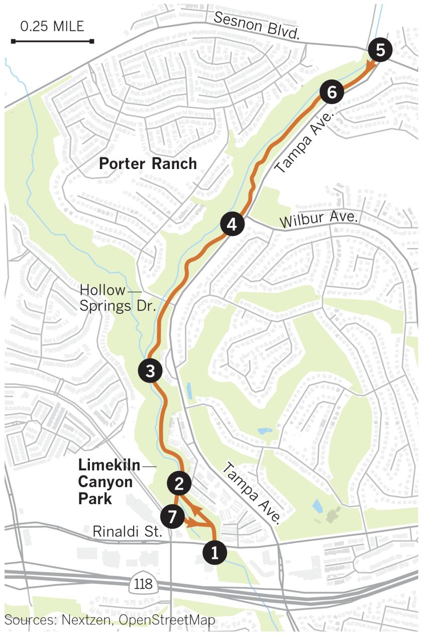 Map of Limeklin Canyon Park