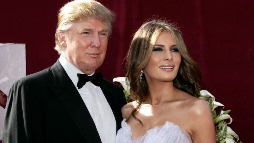 President Trump and First Lady Melania Trump are seen in 2005, the year they were married.