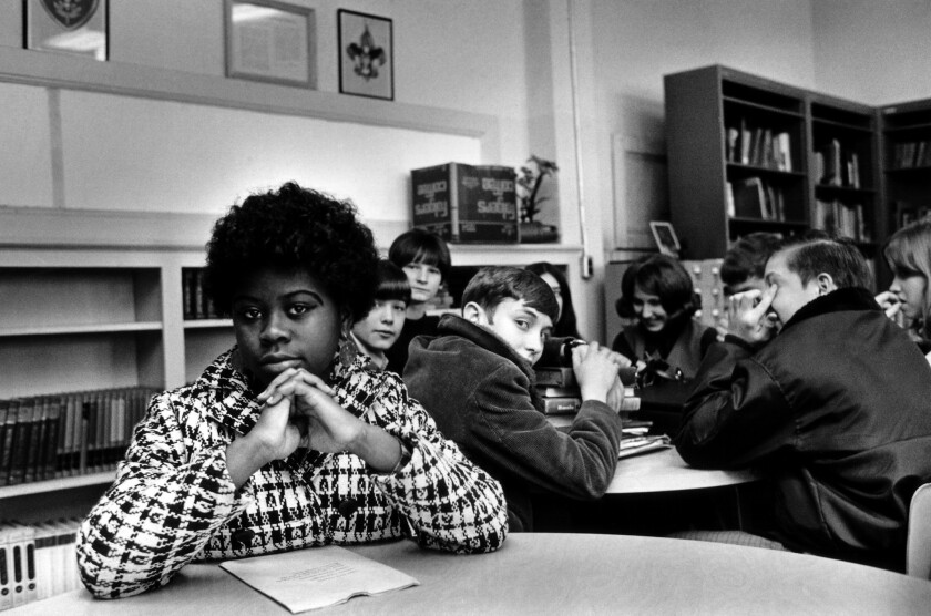 This undated file photo, location unknown, shows Linda Brown Smith. Smith was a third-grader when her father started a class-action suit in 1951, Brown vs. Board of Education of Topeka, Kansas, which led to the U.S. Supreme Court's 1954 landmark decision against school segregation.