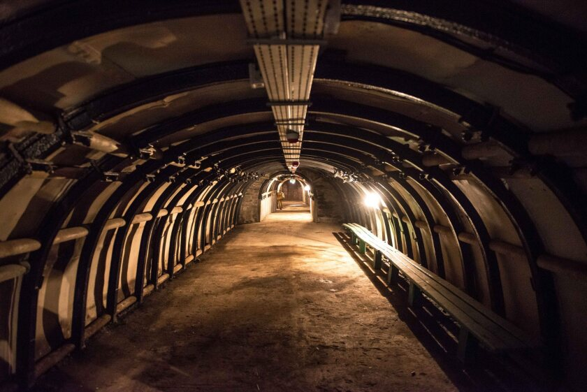 A tunnel at a mining museum in Walbrzych, Poland, where an underground complex built during the Nazi era is rumored to be the location of a gold-laden Third Reich train.