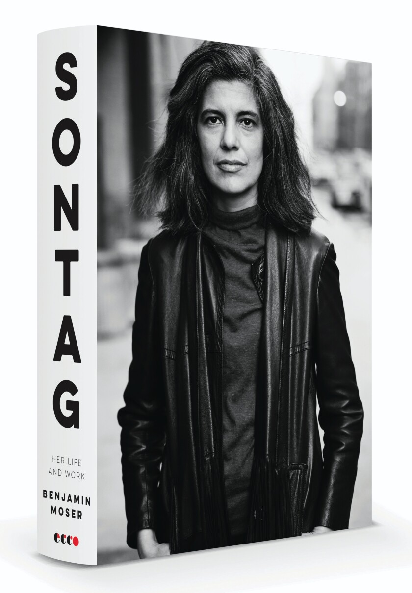 A book jacket for Benjamin Moser's 'Sontag: Her Life and  Work'