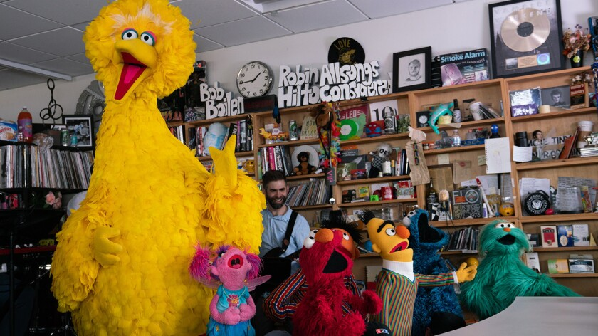 Watch Elmo Big Bird And Cookie Monster Take Over Npr Los