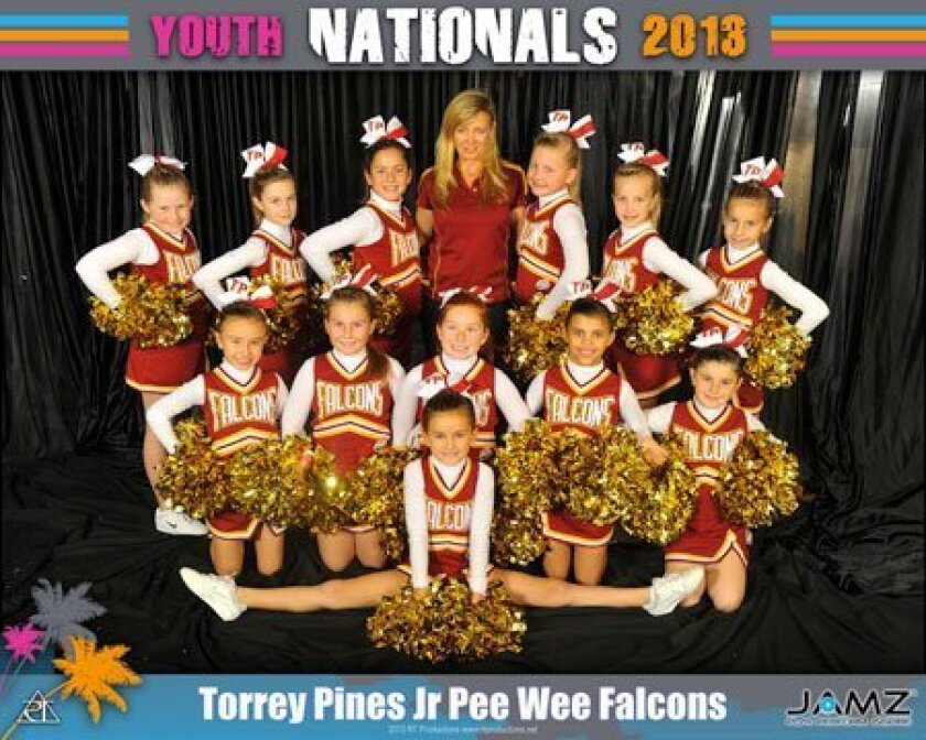 Torrey Pines Pop Warner Jr. Peewee  Falcons squad