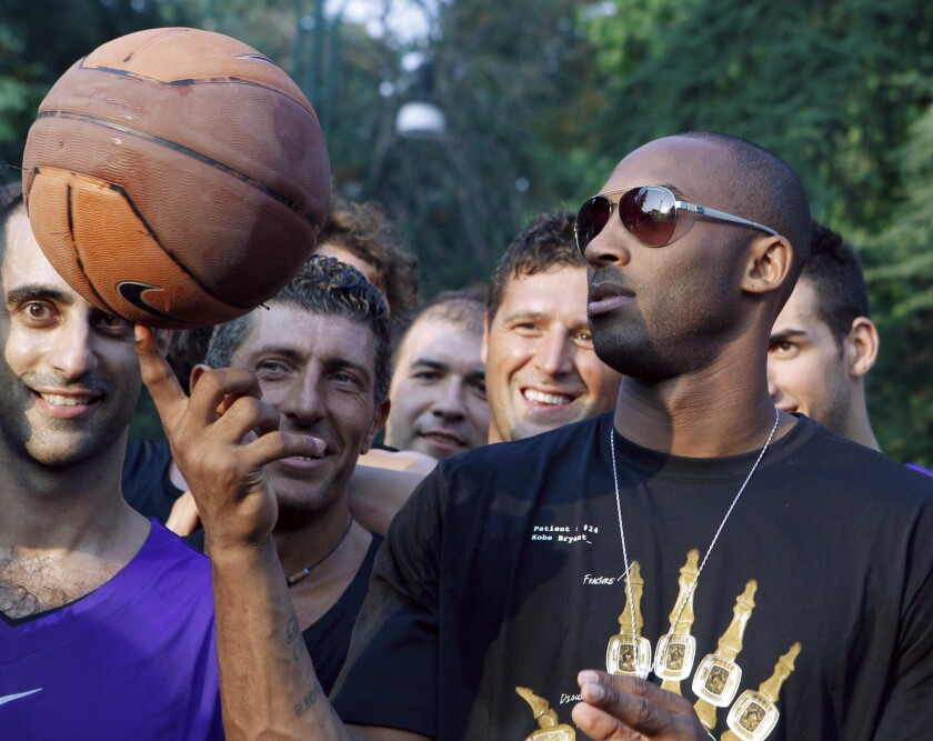 Kobe Bryant mourned around the world, nowhere more so than Italy, where he spent part of his childhood