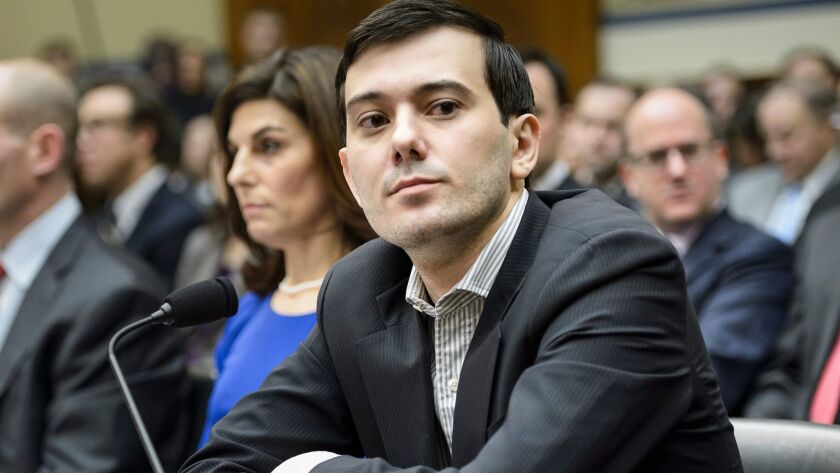 Martin Shkreli appears at a hearing of the House Oversight and Government Reform Committee in Washington in 2016.