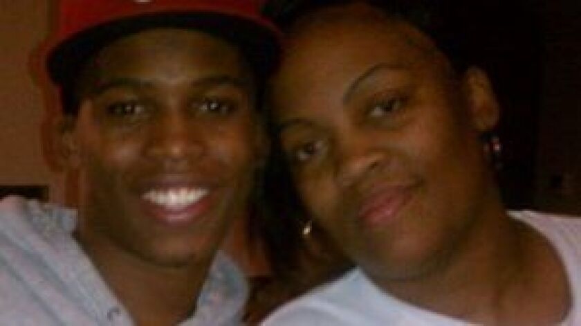 Gemmel Moore and his mother LaTisha Nixon