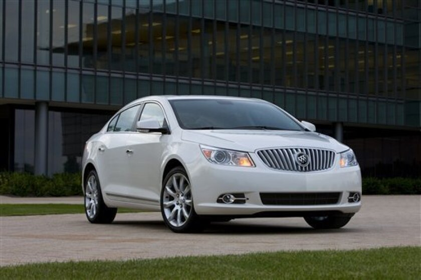This photo released by Buick shows the 2010 Buick LaCrosse CXS. (AP Photo/Buick)