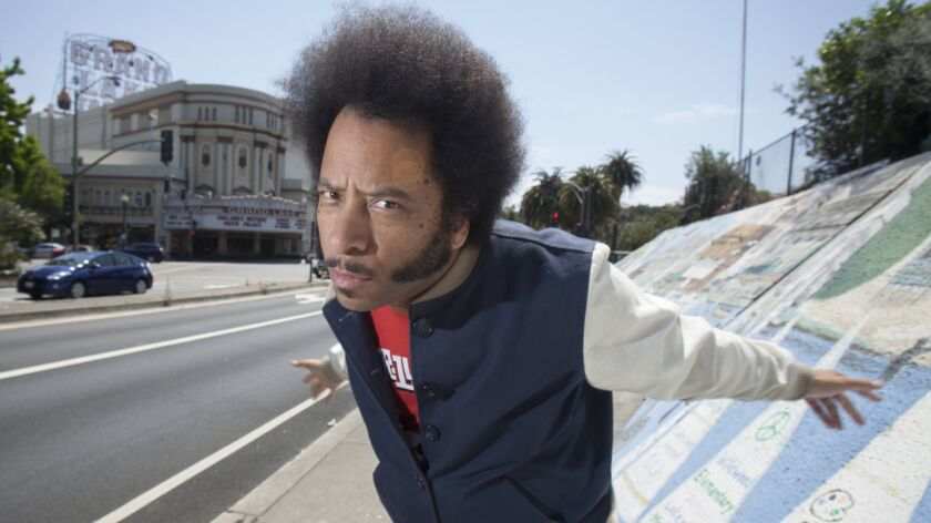 "Oakland of filmmaker Boots Riley of ""Sorry to Bother You"" in Oakland, CA, USA 7 Jun 2018. (Peter DaS"