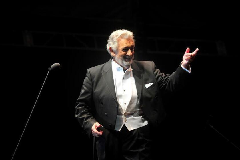 El tenor español Plácido Domingo actúa en la ciudad de Durango (México). EFE/Archivo