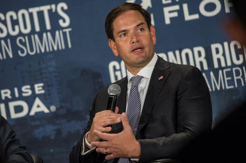 El senador estadounidense Marco Rubio, durante una conferencia de prensa. EFE/Archivo