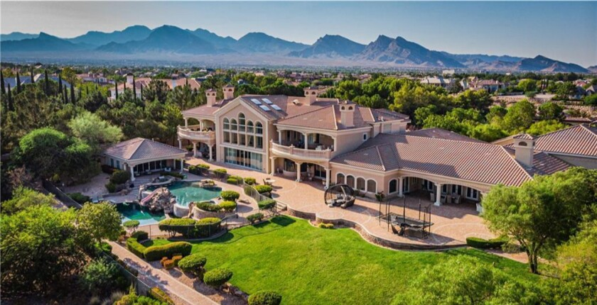 The mammoth home has 10 bedrooms and 12 bathrooms across 20,000 square feet.