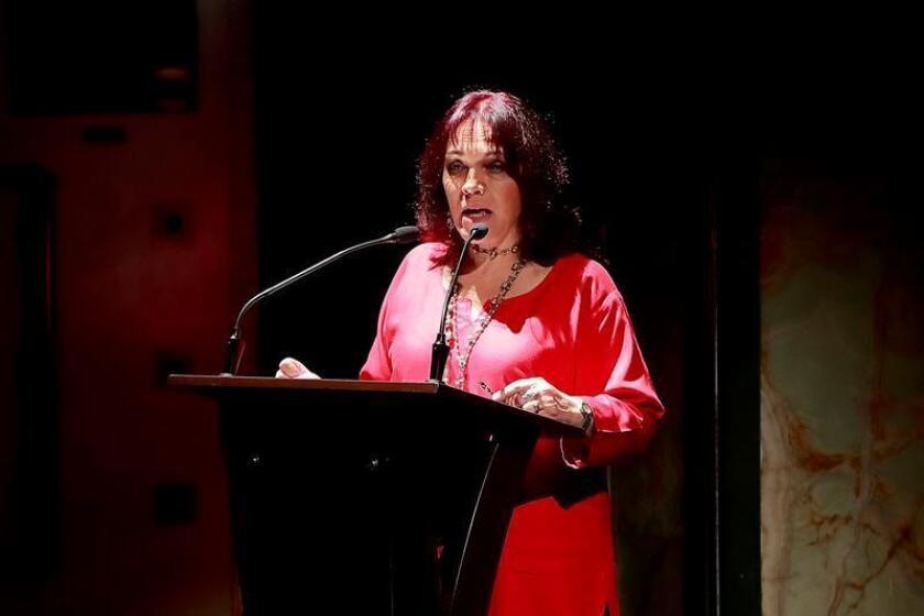 La directora del Festival Internacional Cervantino (FIC), Marcela Diez Martínez, habla durante la presentación de la 46 edición del Festival, en un acto celebrado hoy, martes 10 de julio de 2018, en Ciudad de México (México). EFE