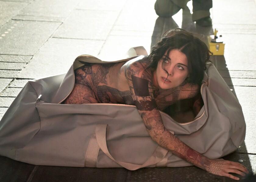 "Jaimie Alexander as Jane Doe in NBC's new drama ""Blindspot."""