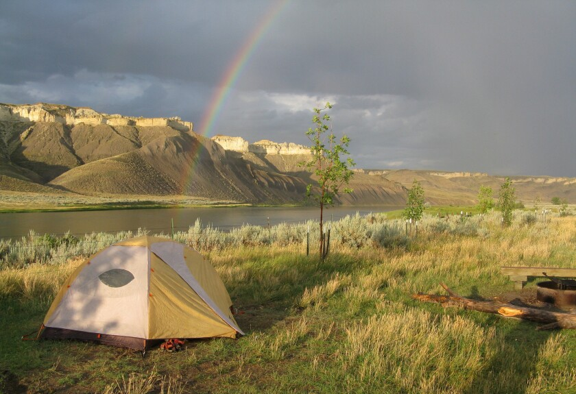 Rainbow after a storm on the Missouri River off the Lewis & Clark Trail.