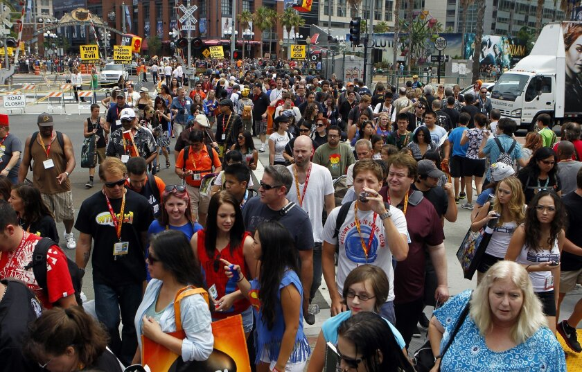 Comic-Con each year attracts roughly 130,000 attendees.