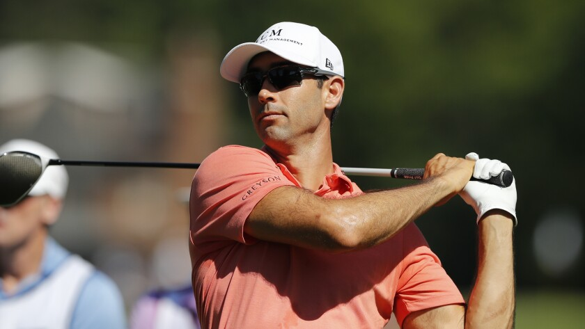 Cameron Tringale competes at the Rocket Mortgage Classic in July.