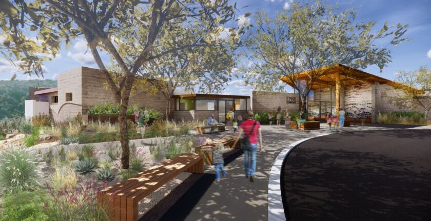 A rendering of the new Pacific Highlands Ranch school.
