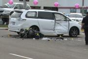 Motorcyclist dies after colliding with a minivan in National City