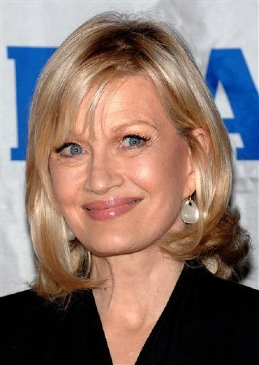 """FILE - In this Oct. 24, 2008 file photo, television journalist Diane Sawyer attends the Friars Club Roast of """"Today Show"""" host Matt Lauer in New York. (AP Photo/Evan Agostini, file)"""