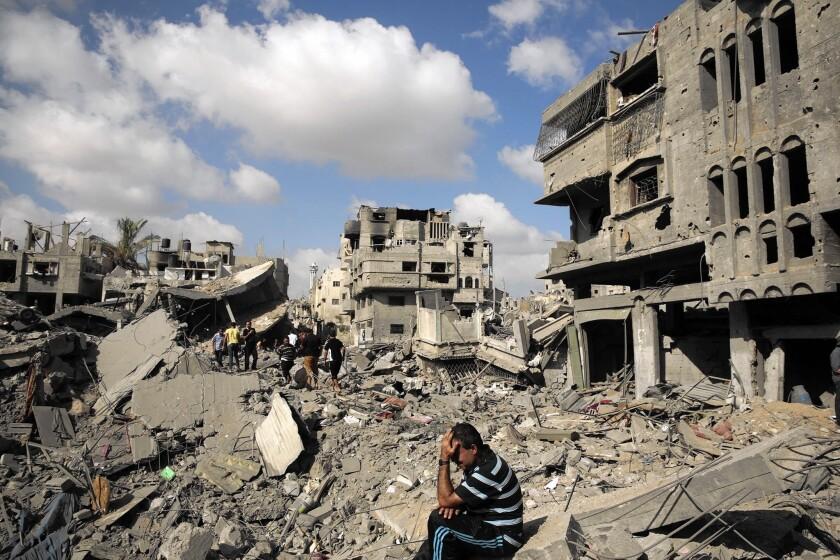 Devastation in Gaza's Shajaiya neighborhood