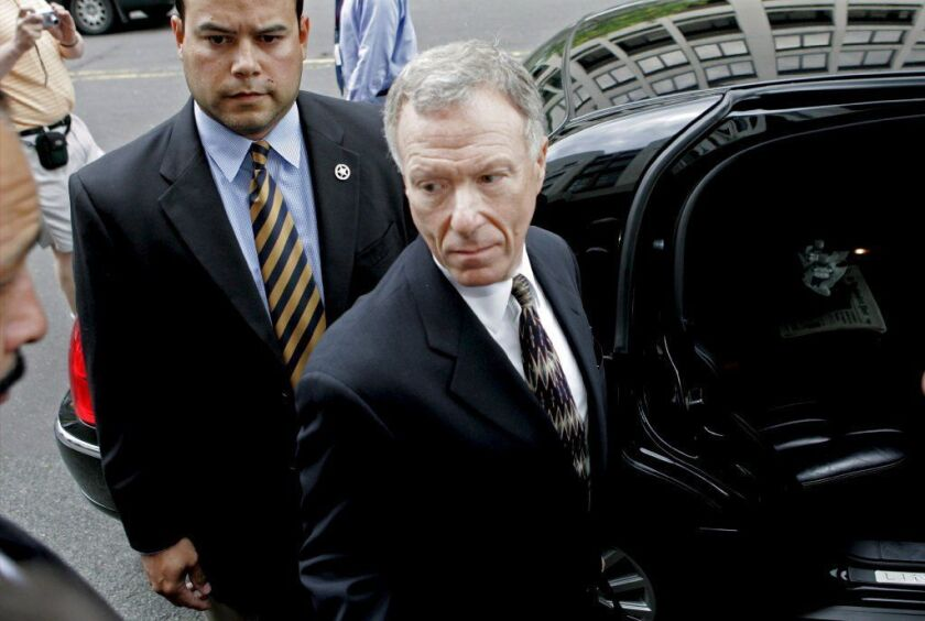 "I. Lewis ""Scooter"" Libby, former chief of staff to U.S. Vice President Dick Cheney, leaves federal court in Washington in June 2006. Trump said Libby was treated ""unfairly"" by a special counsel."