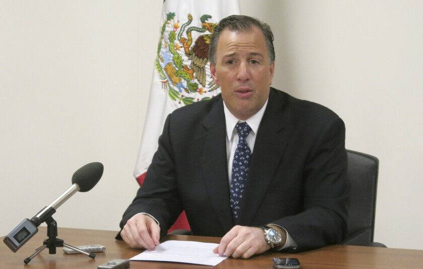 Mexican Foreign Secretary Jose Antonio Meade