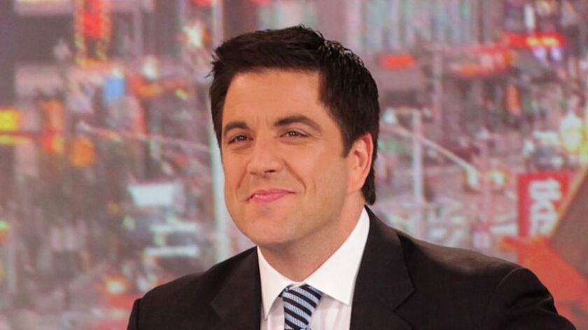 "Josh Elliott, seen here during his ""Good Morning America"" days in 2012, is out at CBS News, where he anchored its digital news channel."