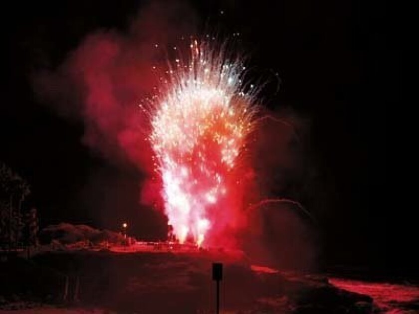 The Fourth of July fireworks display in La Jolla continued in 2010 despite a legal challenge. Photo: Brittany Comunale