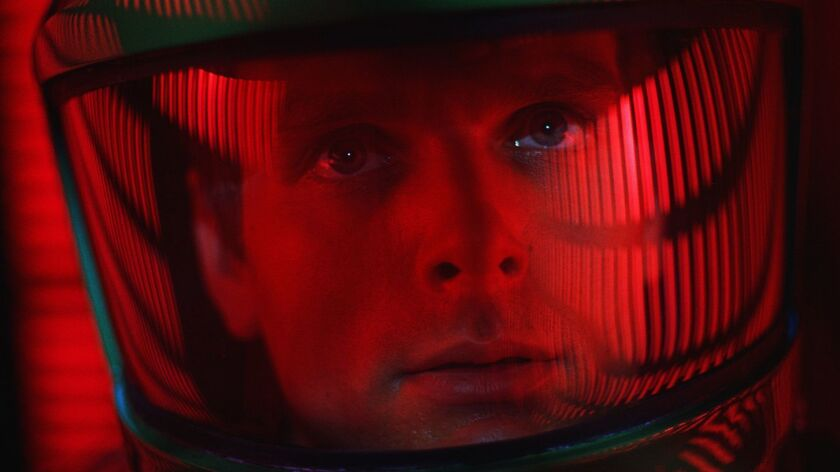 "This image released by Warner Bros. Pictures shows Keir Dullea in a scene from the 1968 film, ""2001:"