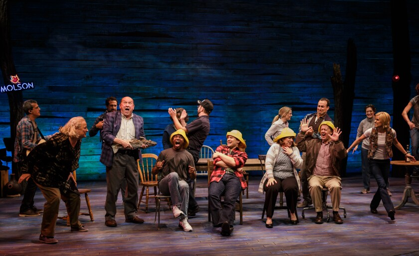 "A photo from La Jolla Playhouse's 2015 production of ""Come From Away"""