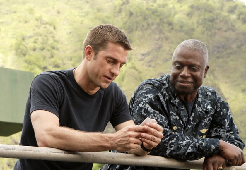 """Scott Speedman as Sam Kendal, left, and Andre Braugher as Capt. Marcus Chaplin in a scene from the ABC series """"Last Resort,"""" which didn't get picked up for a full season."""
