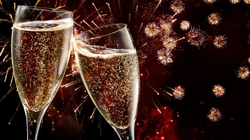 Restaurants celebrate the New Year with multicourse offerings, including complimentary Champagne toasts.