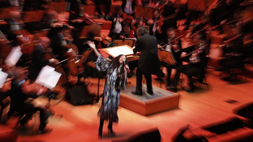 A scene from the gala opening of the Los Angeles Philharmonic's 100th season in September.